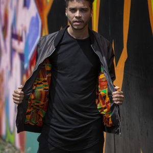 Duodu London Bronze Kente Bomber 2 copy