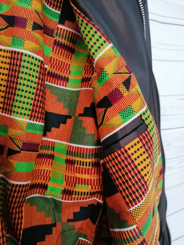 Duodu London Bronze Kente Bomber 3