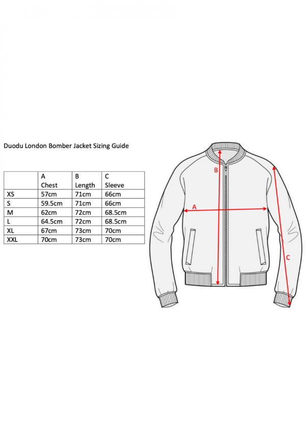 duodulondon african bomber sizing guide