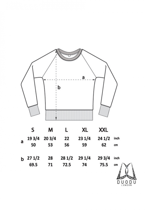 Duodu London jumper size guide