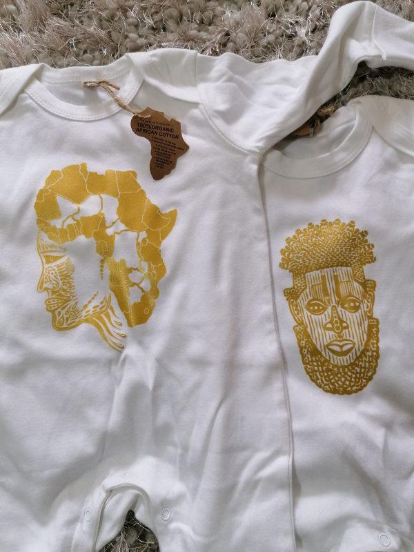 babydu afro sleepsuit wht 2