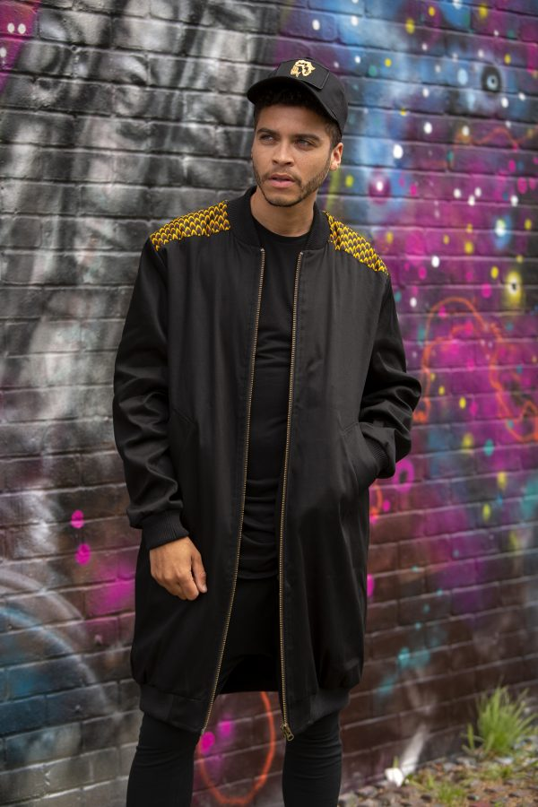 Duodu London long line bomber black 1 copy